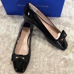 NIB Stuart Weitzman Patent Leather Flats, Black 8M